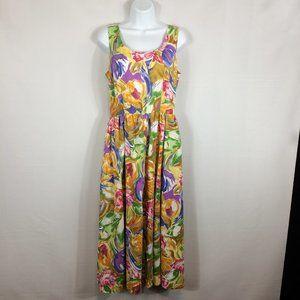Banana Republic Watercolor Floral A-Line Sun Dress